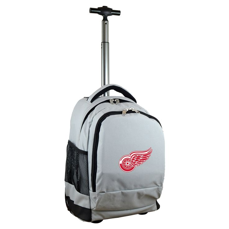 Denco Sports Mojo Detroit Red Wings Premium Wheeled Backpack