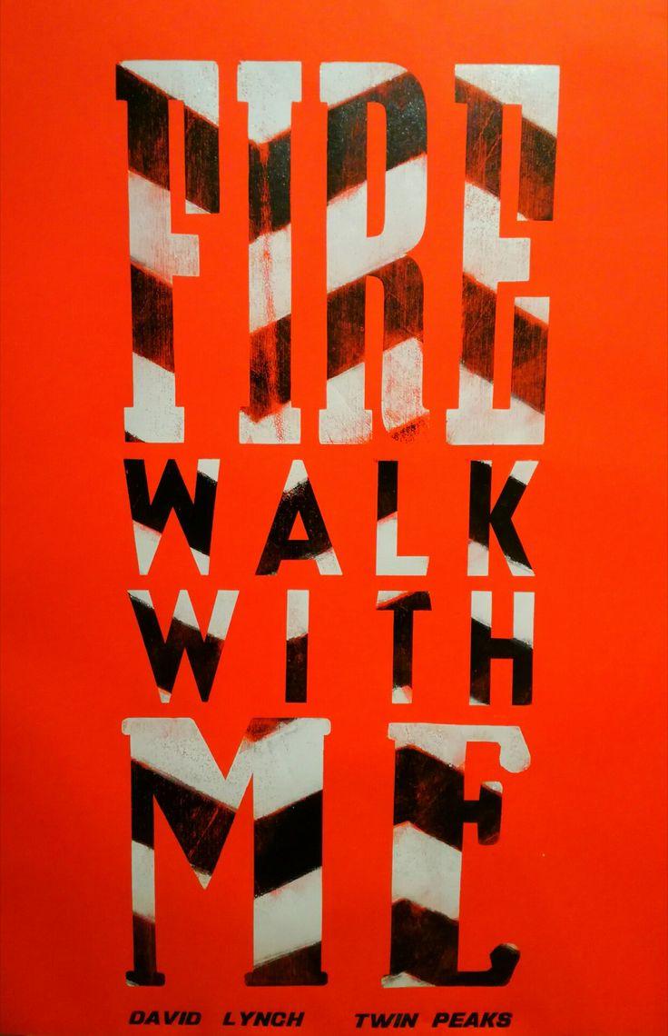 #szililetterpress #twinpeaks #davidlynch #firewalkwithme #fanart #woodtype #typography