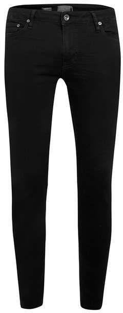 Black Coated Spray On Skinny Jeans