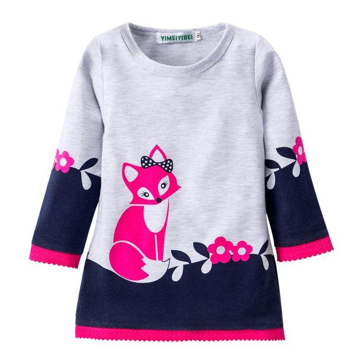 LZH Meninas Vestir Traje Para As Crianças Crianças Bonito Fox Bordado Longo Vestido de Mangas Compridas Vestidos de Festa de Meninas 2017 Primavera Meninas roupas em Vestidos de Mãe & Kids no AliExpress.com | Alibaba Group
