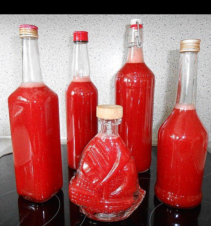 Erdbeerlikör, ein sehr schönes Rezept aus der Kategorie Likör. Bewertungen: 78. Durchschnitt: Ø 4,6.