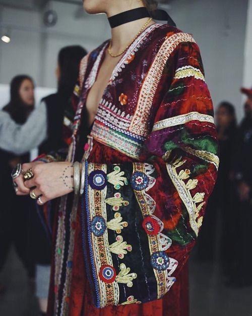 The Stylish Gypsy | this boho appliqué print jacket is amazeballs