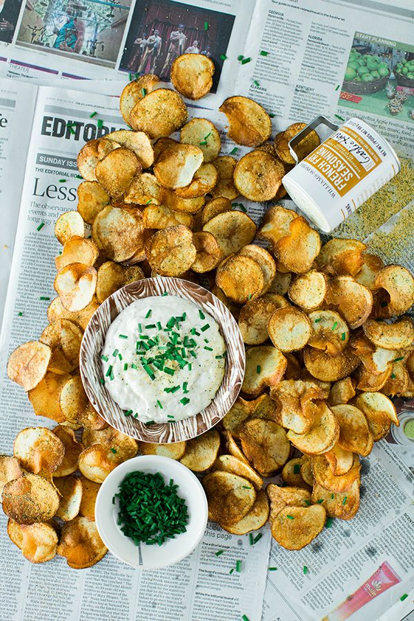 Top Atlanta blogger Mandy Kellogg Rye shares her recipe for homemade French Onion Dip with Homemade Kettle Cooked Chips. Homemade French Onion Dip is easier