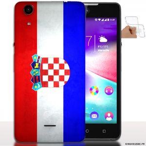 Housse de telephone wiko Rainbow Lite Drapeau du Monde Croatie / Coque Silicone. #Wiko #Rainbow #Croatie