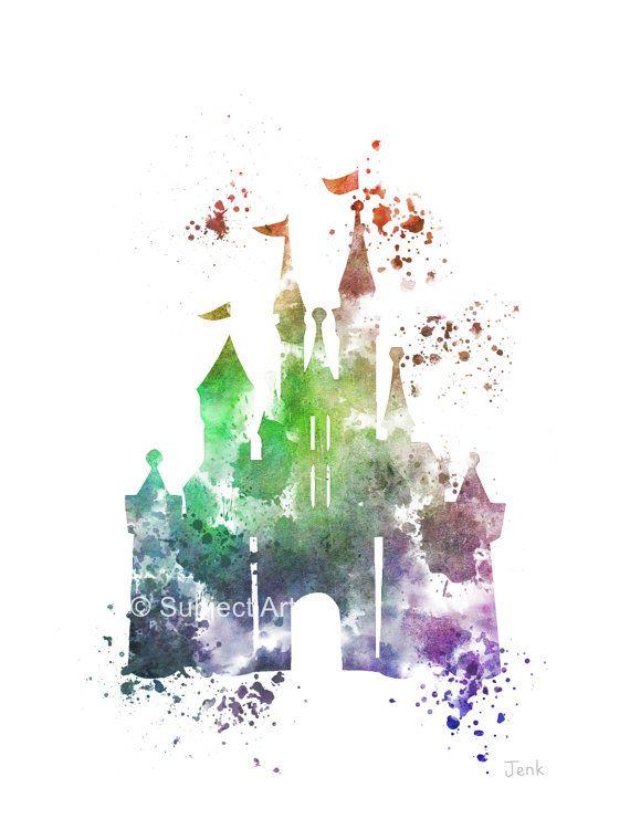 Cinderella Castle ART PRINT 2nd Edition Abbildung von SubjectArt