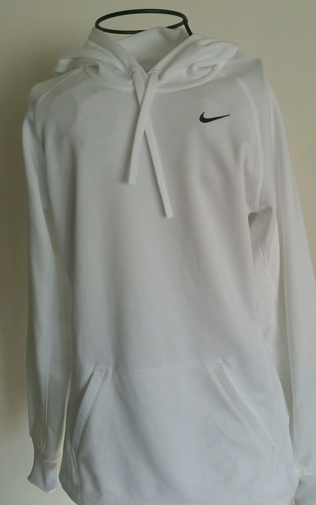 Nike Therma fit Men's Hoodie size extra  small EUC white pullover hoodie #Nike #Hoodie