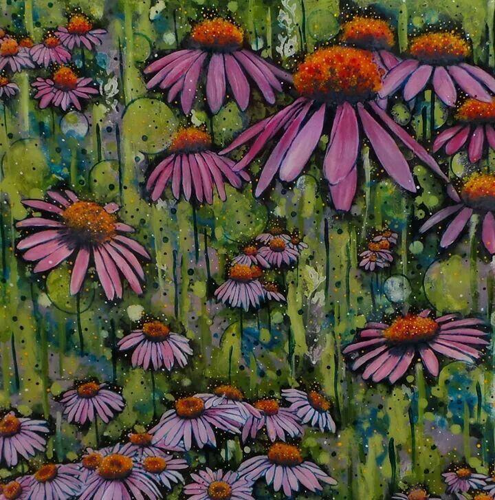 Megan Collier, NZ. Meadow mix tiles.