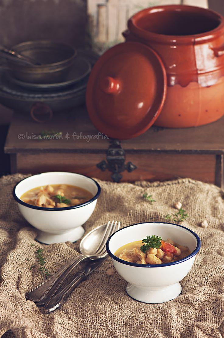 Garbanzos con bacalao, potaje de vigilia. | Cocinando con mi carmela.