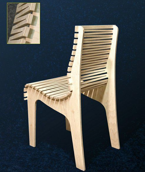 Zig Zag Chair Is Made Out of Just Three Pieces of Plywood : TreeHugger