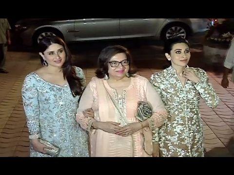 SISTERS ! Kareena Kapoor & Karishma Kapoor at Randhir Kapoor's 70th birthday party.https://youtu.be/1iXf66xgCdw