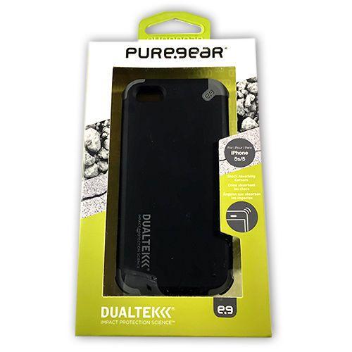 PureGear DualTek iPhone 5s/5 Case - Black 02-001-01831 NEW! #PureGear