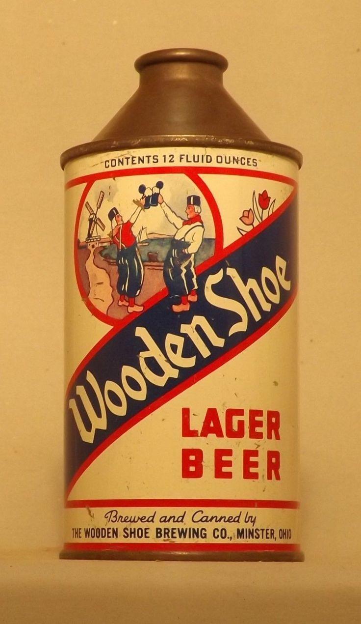 Wooden Shoe Cone Top Beer Can #2, Minster, OH, Cone-u-copia Sale ! | eBay