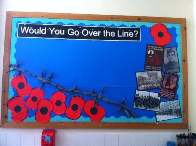 WW1 Display - Over the Line by Tom Palmer