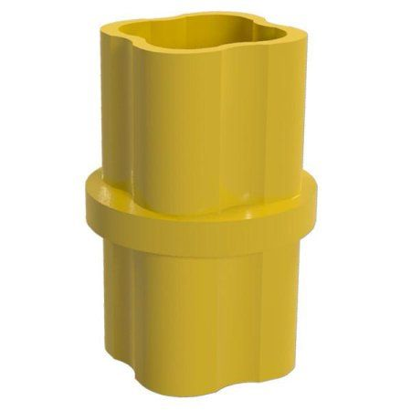 PVC Pipeworks 3/4 inch Internal PVC Furniture Grade Coupling in Yellow - Pipe Coupler (4-Pack)