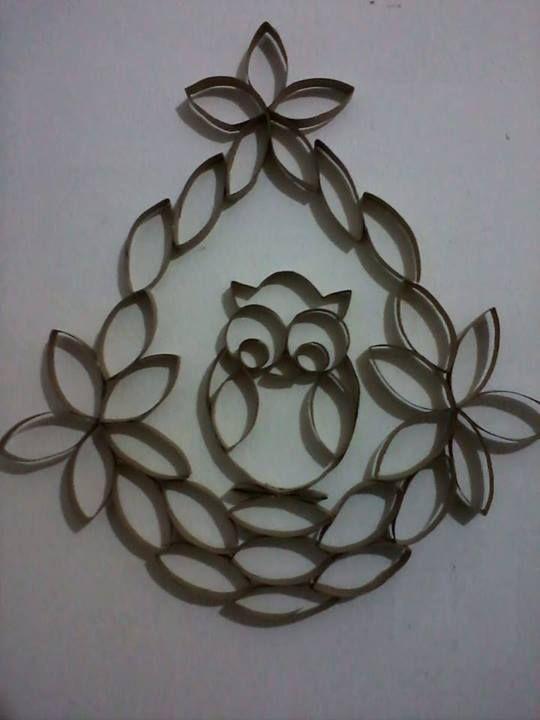 Resultado de imagem para flores com rolo papel higienico