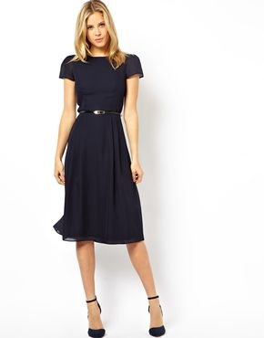 ASOS+Simple+Midi+Skater+Dress+With+Belt.   Ladies what do you think? Maybe teamed with a little angora cardi? x