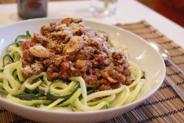 no carb pasta Healthy Spaghetti Bolognese Recipe