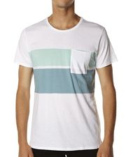 SPARE CRUIZER TEE - WHITE/MINT on http://www.surfstitch.com