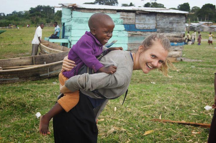 Anne Katrine i Uganda