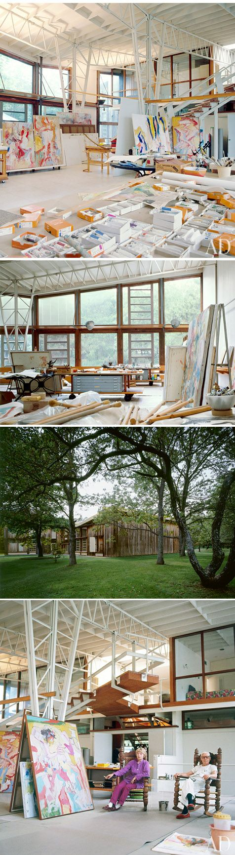 Willem de Kooning studio in East Hampton, Archetectual Digest, 1983