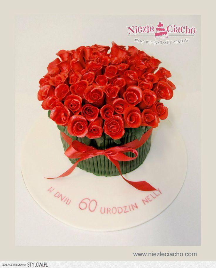 Róże, bukiet róż, bukiet kwiatów, tort w kształcie bukietu, tort w kształcie róż, tort urodzinowy, Tarnów