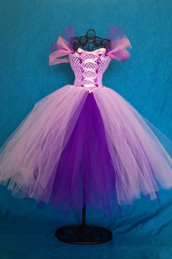 wow. this seems so simple! Rapunzel Princess Tutu Dress  Girls 4T 5T by TulleBoxTutus on Etsy, $50.00