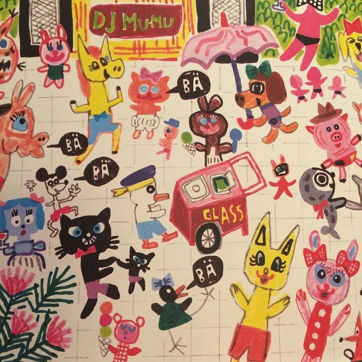 Adore this childrens book by Bjorn Rorvik illustrated by Gry Moursund! #grymoursund #bjørnrørvik #bockarnabrusepåbadhuset by illustrated.doris