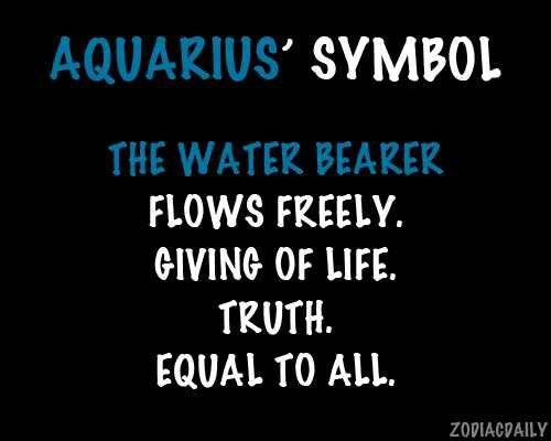 Aquarius' Symbol | Aquarius - The Water Bearer | Pinterest ...
