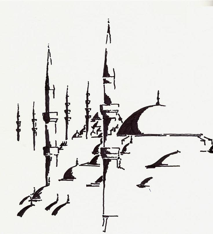 Şehzade Mehmet Cami ve Arkada Süleymaniye - Hümeyra Rümeysa Yavuz