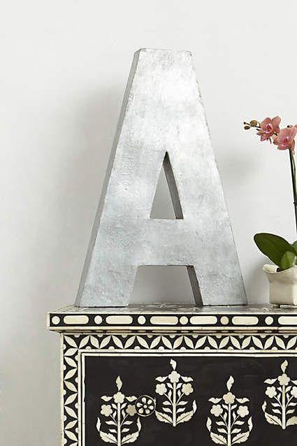 Oversized Zinc Letters - anthropologie.com