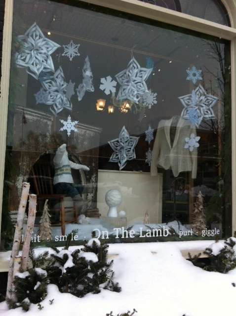 January Window - Visions in white ... and snowflakes - even if we don't have snow on the ground!