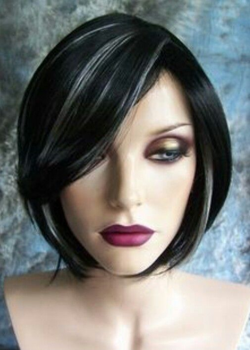 Best 25 silver hair highlights ideas on pinterest silver black with white highlights short wigwigs not sure about wigs but want my hair colored like this pmusecretfo Choice Image