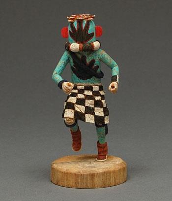 Miniature Hand Runner Kachina doll by Kevin Sekakuku (Hopi ...