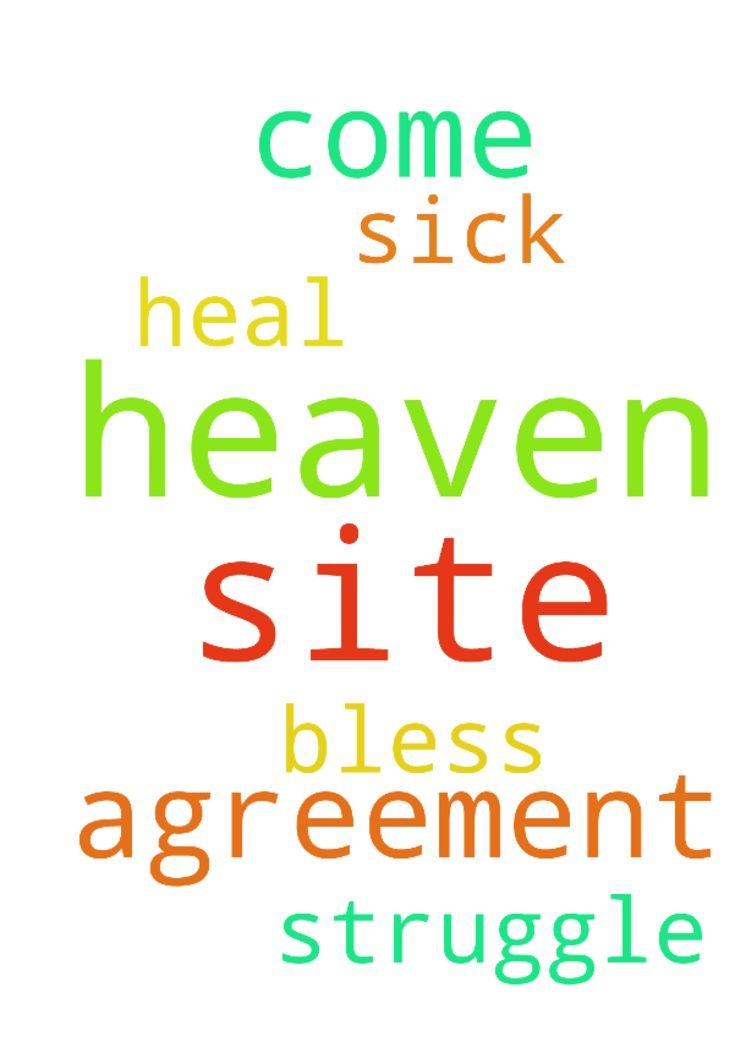 Our father in heaven we all on this site come in agreement - Our father in heaven we all on this site come in agreement God ask we you to Heal the sick and bless them that struggle in Jesus name I pray amen  Posted at: https://prayerrequest.com/t/HNr #pray #prayer #request #prayerrequest