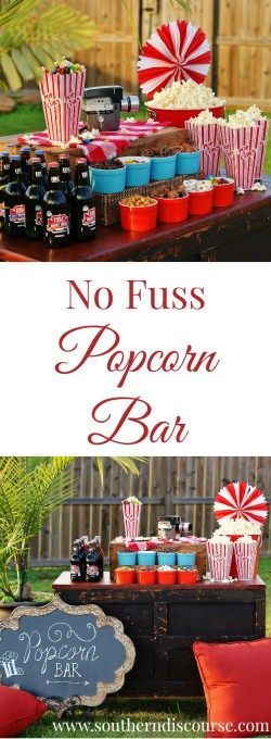 It's not always easy to feed a crowd. But a popcorn bar has to be hands down the easiest, most fun way to entertain. I am sharing all my secrets for a no-fuss popcorn bar that's perfect for indoor and outdoor movie nights, sleepovers, swim parties, or just getting together with friends and family!