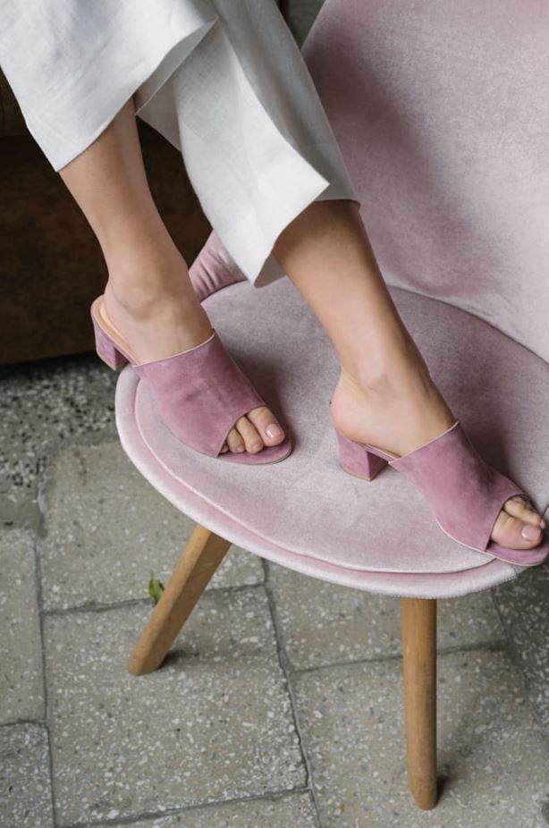 Eleganckie Klapki W Modnym Kolorze Girls Shoes Heels Shoes