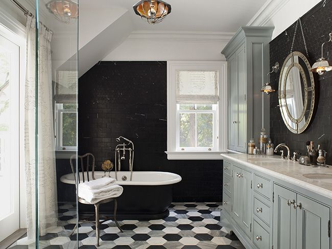 Black White Grey Bathroom Floor | ... Black White And Gray Bathroom, White Part 73