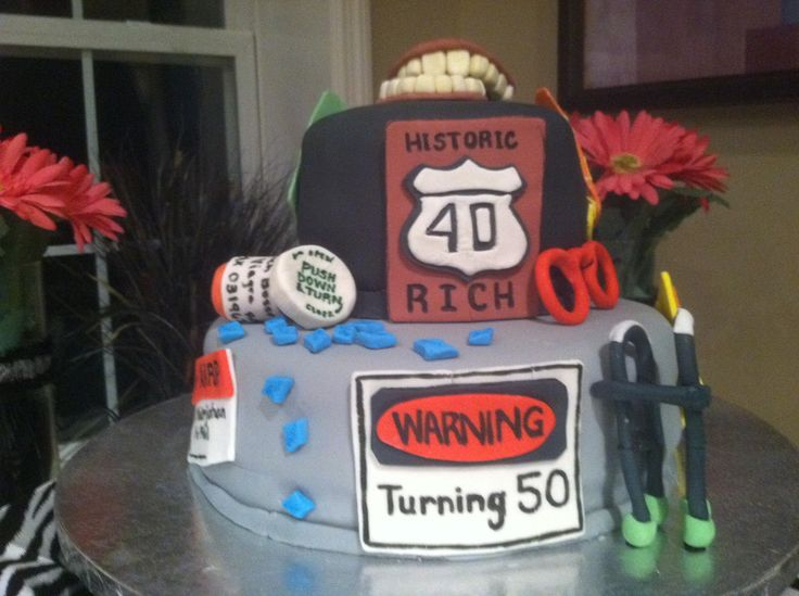 14 best over the hill images on Pinterest 50th birthday cakes