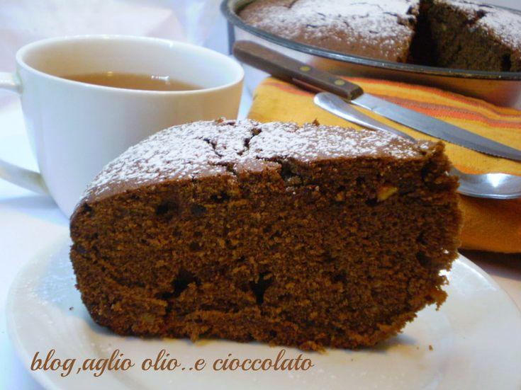 torta all'earl grey tea al cioccolato e arancia