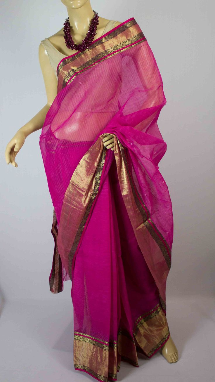 #Handwoven  #chanderi #saree #India #crafts #weaving
