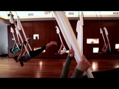 Aerial Yoga? AERIAL YOGA!? Enough said, where do I sign up?? Drop in sessions available at Polejunkies in Calgary for around $30.00