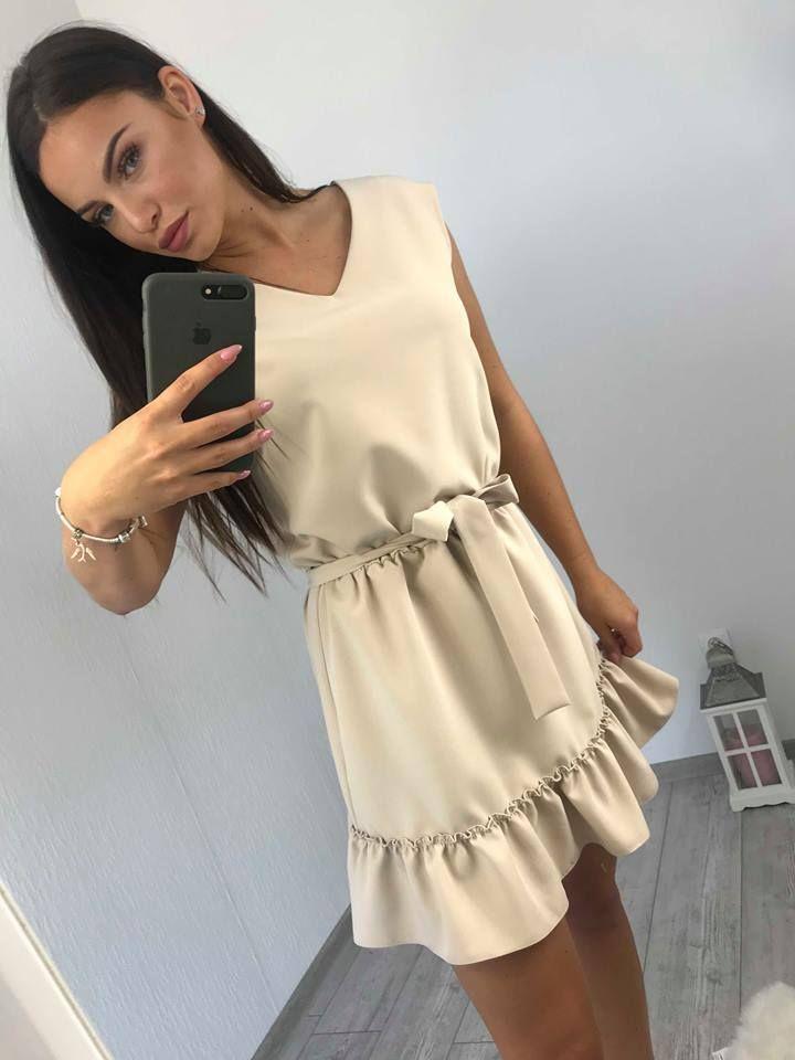 552623c21c47 Moderné letné šaty vo farbe cappucino. Skvelý módny kúsok