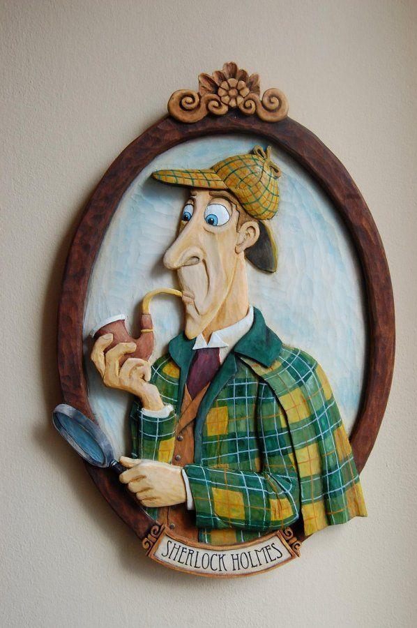 Wood Carving - Sherlock ... Řezbářství Hejkalíci - Tomáš Hejhal
