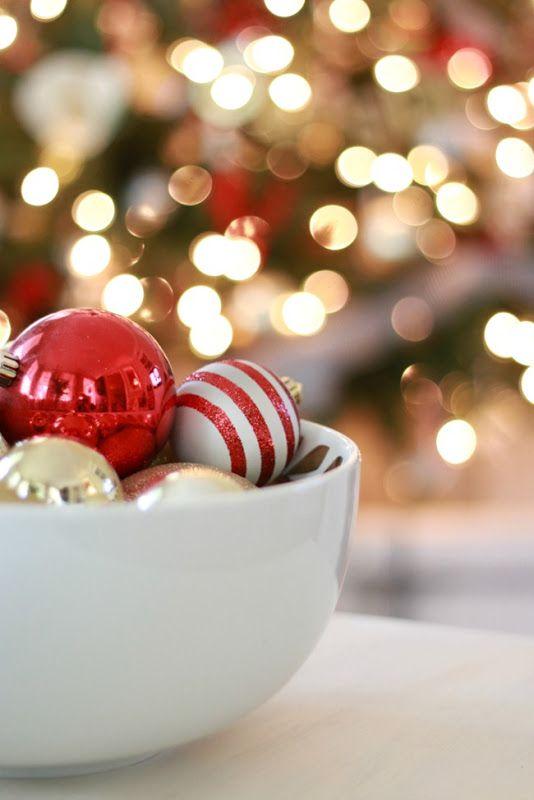 Bowl of ornaments: