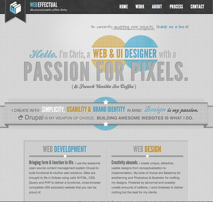 fantastic website homepage ideas. Fantastic use of Textures  shadows everything pops beautifully 53 best Website Portfolio Design images on Pinterest