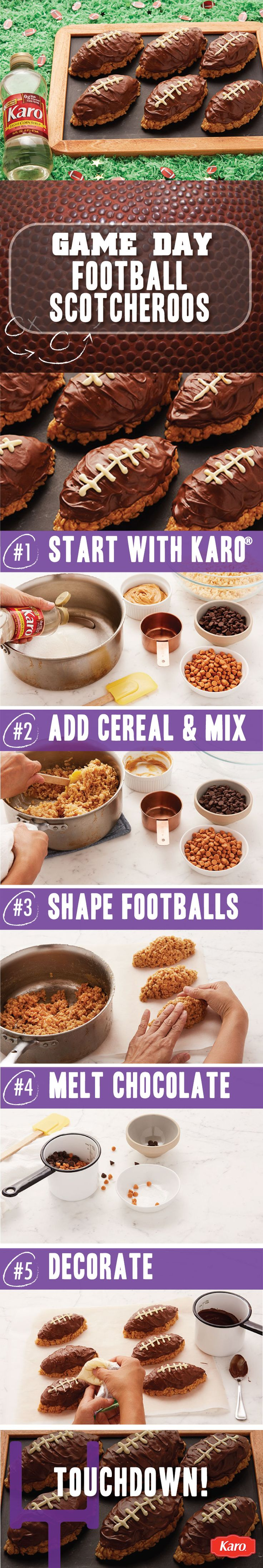 Football Scotcheroos are a must have at your next game day party. This no-bake…