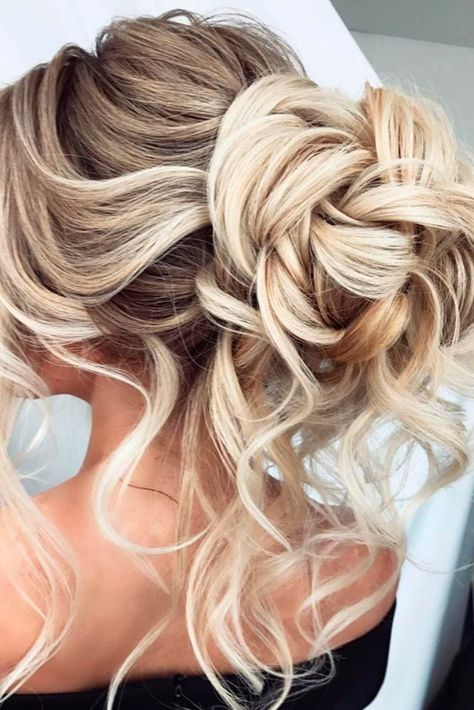 Side curly wedding hairstyles