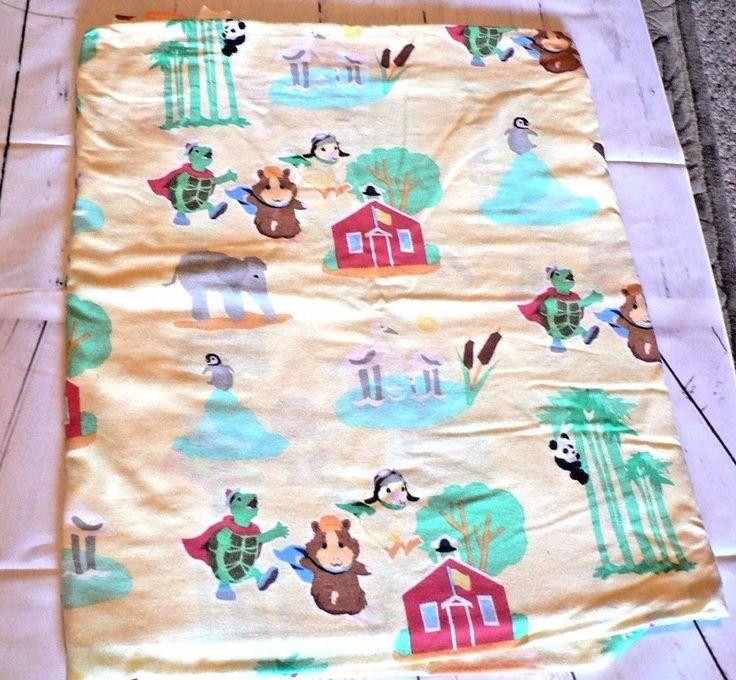 Wonder Pets Flat Sheet Twin Size Nickelodeon Duck Turtle Guinea Pig Yellow #Twin #Novelty