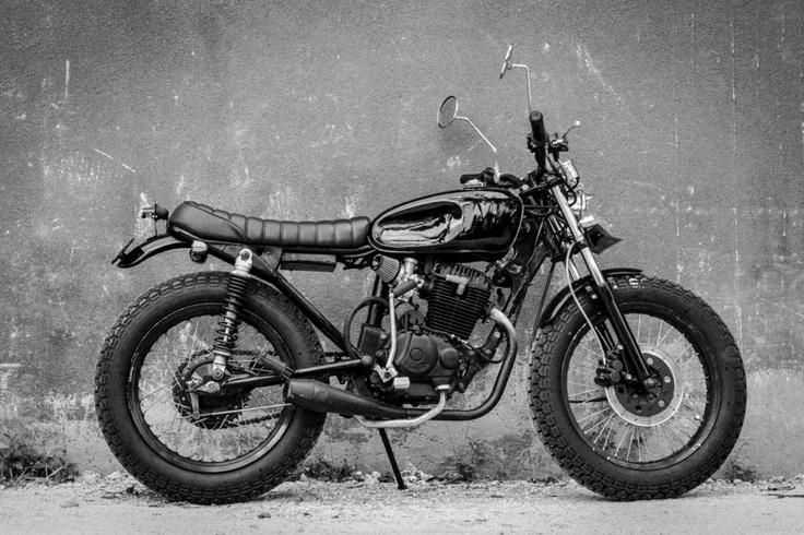 photo by Anton Ivanov #custom #motorbike #honda #black