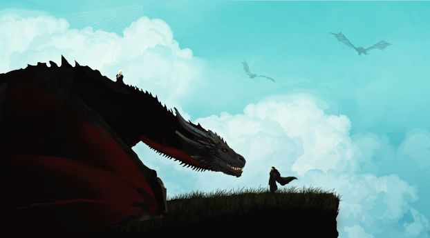Jon Snow Meets The Dragon Minimal Wallpaper Hd Movies 4k Wallpapers Images Photos And Background Wallpaper Pc Game Of Thrones Cards Game Of Thrones Art
